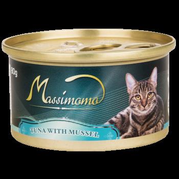 Massimomo 吞拿魚+青口 貓罐頭 80g
