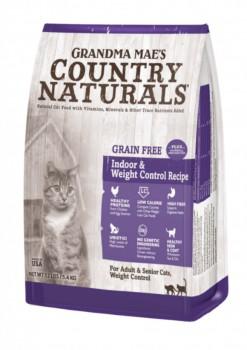 Country Naturals 無穀物 老貓/體重控制 去毛球 室內貓配方 4lb