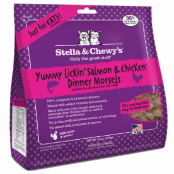 Stella & Chewy's - 雞+三文魚 貓咪凍乾生肉主糧8oz