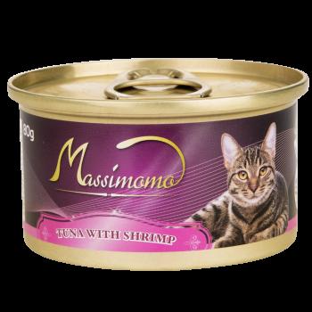 Massimomo 吞拿魚+蝦肉 貓罐頭 80g