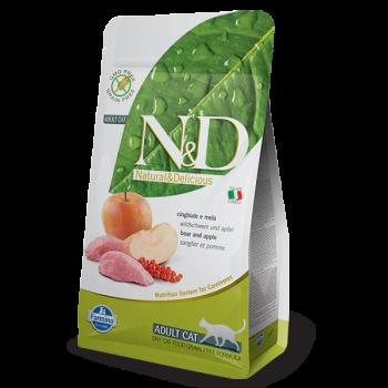 Natural & Delicious 蘋果加野豬成貓配方乾糧 10kg