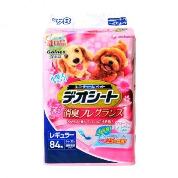 日本Unicharm消臭大師】花卉香狗尿墊 M(84片/包) 44 X 32cm