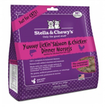 Stella & Chewy's - 雞+三文魚 貓咪凍乾生肉主糧18oz