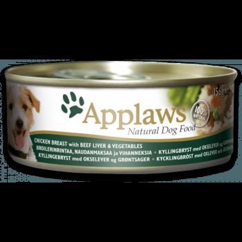 Applaws 全天然 狗罐頭 156g 雞,牛肝,菜