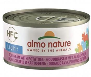 Almo Nature 低熱量貓濕糧 - 啫喱系列 - 鯛魚薯仔 70g