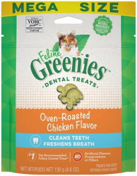 Greenies 貓貓潔齒餅 烤雞味 4.6 OZ