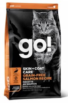 Go! Solution 護膚美毛系列-無穀物三文魚貓糧 8磅