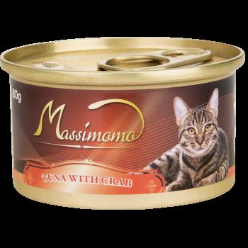 Massimomo 吞拿魚+蟹肉 貓罐頭 80g x36罐優惠