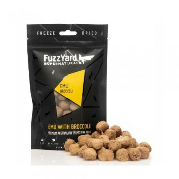 FUZZYARD SUPERNATURALS 純天然凍乾狗小食(澳洲鴕鳥+西蘭花) 70G