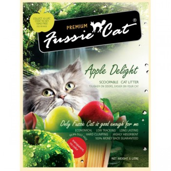 Fussie Cat 蘋果味礦物砂10 L