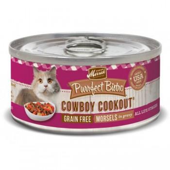 Merrick 無穀物 牛肉+牛肝 貓罐頭 (cowboy cookout)  3oz