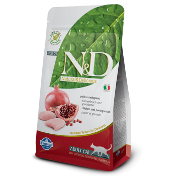 Natural & Delicious 石榴加雞成貓配方乾糧5kg