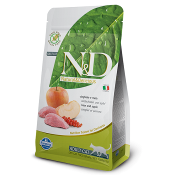 Natural & Delicious 蘋果加野豬成貓配方乾糧 5kg