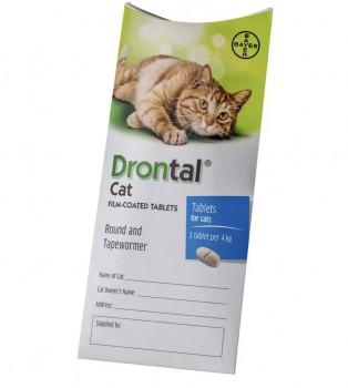 Bayer Drontal Plus allwormer cat 杜蟲丸 (貓用) 1粒