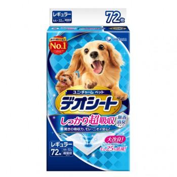 【日本Unicharm消臭大師】超吸收狗尿墊 M(72片) 44 X 32cm