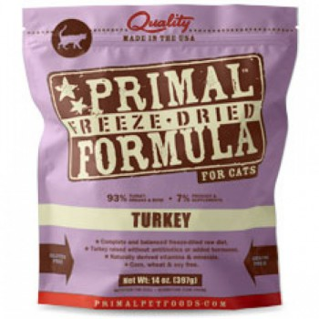 Primal (原始)–貓用 脫水糧–火雞配方 14oz x2包優惠