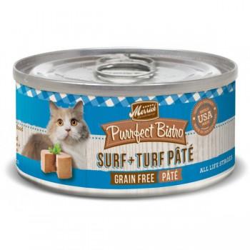 Merrick 無穀物 三文魚+牛肉 貓罐頭 (Surf+Turf)  3oz