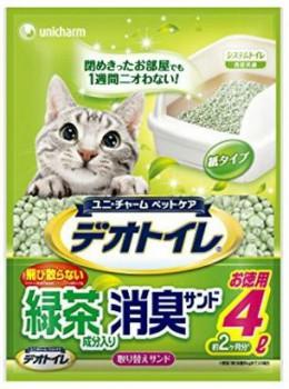 日本 Unicharm 消臭大師 滲透式綠茶紙貓砂 4L x6包優惠