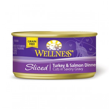 Wellness火雞三文魚肉條罐頭 3oz (85g) Sliced Turkey & Salmon Dinner