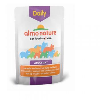Almo Nature Dailymenu 雞肉及三文魚 貓濕糧 (袋裝) 70g