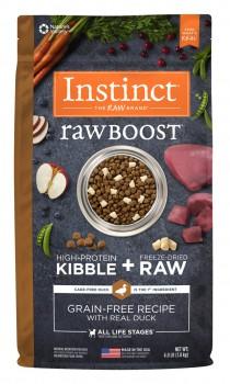 Nature's Variety instinct 原野生肉粒無穀物鴨肉配方犬用糧20 磅